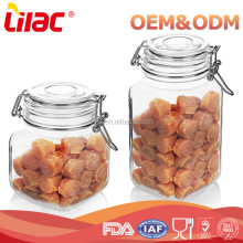 high quality square airtight borosilicate glass food storage jar