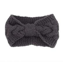 KD052 Custom knitted acrylic <strong>headbands</strong> with bowknot decoration