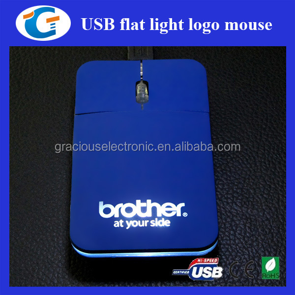 Computer accessory flat mouse optical