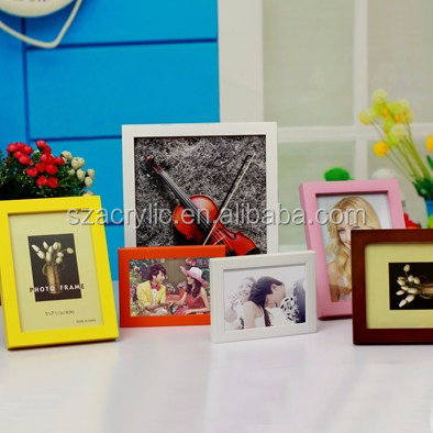 Easy Style Customized Size Mulit Color Wooden Photo Picture Frame