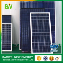 Hebei baowei professional designed pv solar module 100wp