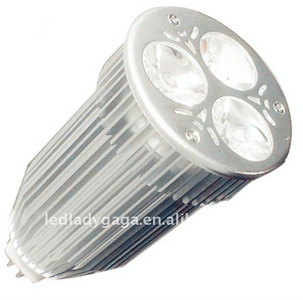 led recessed ceiling spotlight 9W MR16 DC12V SMD 3X3W 35SMD Aluminum PC E27 spots led 420lm