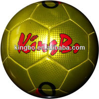 metallic pvc machine soccer balls with ball facotry best price