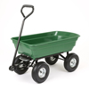 Heavy Duty Garden Dump Cart Yard Wagon Lawn Wheelbarrow Utility Tractor Trailer