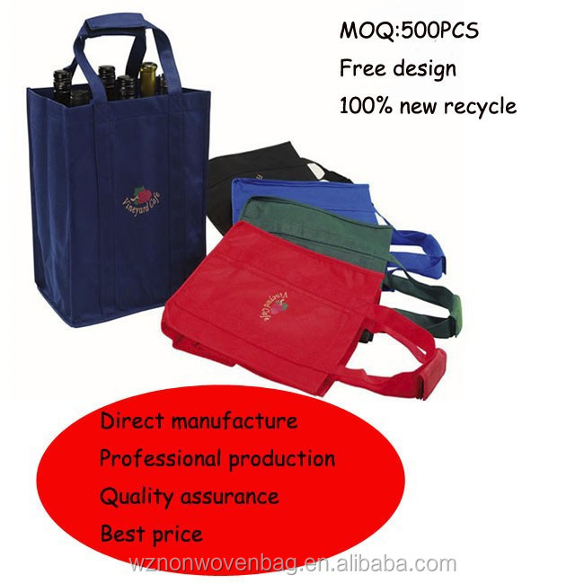promotional nonwoven bottle bag for wine holder