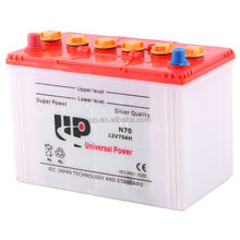 N70 dry battery 12v battery 65D31R car battery for distributors in africa
