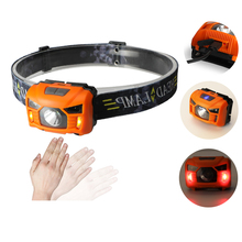 Plastic adjustable head lamp 3w rechargeable led running headlamp