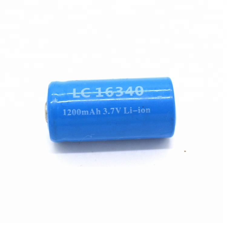 Rechargeable 3.7v 1200mah Li-Ion 16340 <strong>Battery</strong> For Mini Flashlight Fan
