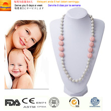 Silicone Chewable Necklace Food-safe Baby Enjoy Bead Necklace Silicone Mum Necklace