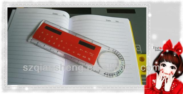 Promotional Ruler Calculator With Digital Clock