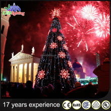 China supplier giant christmas light tree color changing led glass christmas tree