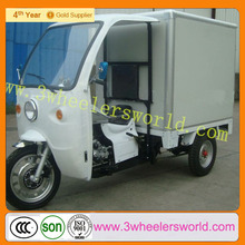 Used Adult 3 Wheel Electric Motor Cargo Cabin Tricycle With Insulation Box for Sale
