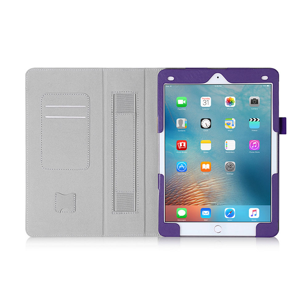 Leaf Flip Lichee PU Leather Case Cover for ipad with Hand Strap