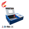 desktop home used small 40w CO2 laser engraving machine for stamp wood acrylic rubber paper glass plastic with CE FDA