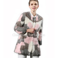 CX-G-A-03A Genuine Leopard Print Mink Fur Jacket