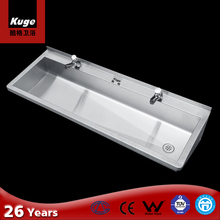 Commercial stainless steel wash trough hand wash basin