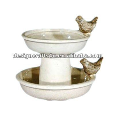 ceramic 2 tiers bird cage water drinkers