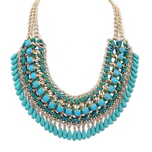 2018 cheap wholesale fashion jewelry, Exaggerated women statement necklace