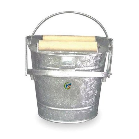 Silver Galvanized Steel 12 qt Mop Bucket and Wringer