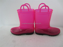 Plastic boots with handle plastic boots for children