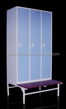 Room cabinet clothes locker/steel bench locker for gym