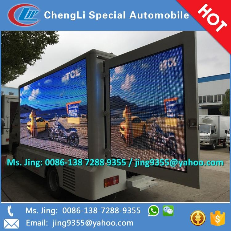 Angola Hot Sale Foton led display truck with mobile advertising van for led tv display