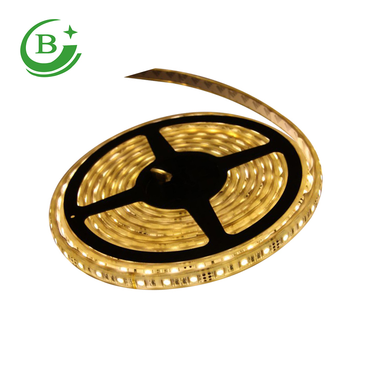 60LED Single Color <strong>10</strong>-12LM SMD 5050 LED Strip Flexible LED Strip 7.2W 12V 5M