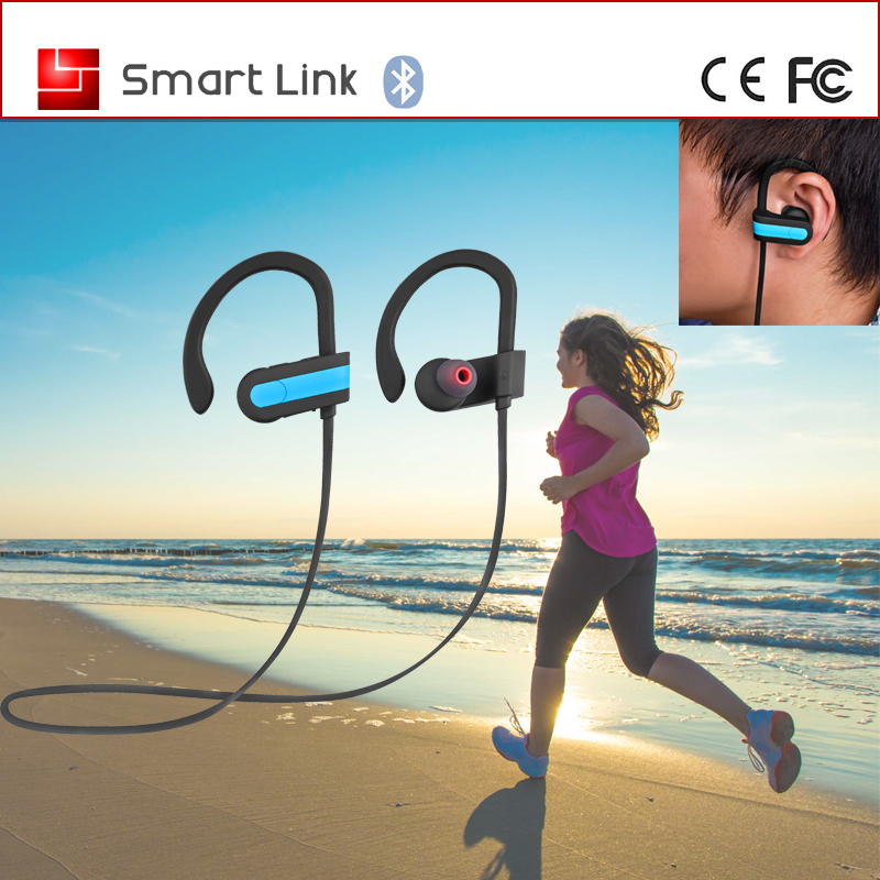 Fashion Design Super Soft Rubber Coating Ear Hook Sport Bleutooth Wireless Headphone With NFC
