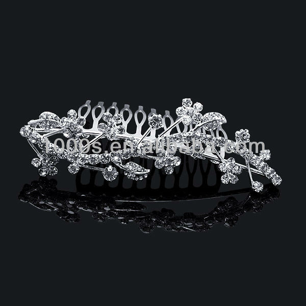 New design flower hair accessories,hair hooop decoration silver tiara