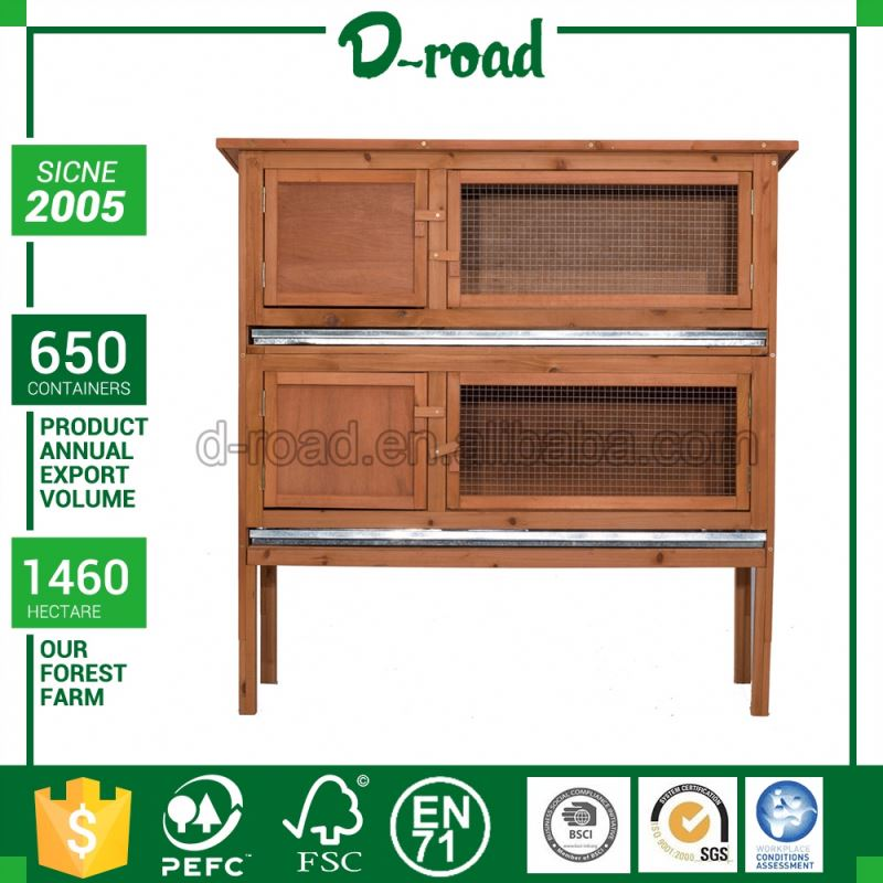 New Style Oem House Triangle Rabbit Cage Wood