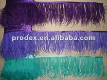 Fashion Dyed Ostrich feather fringe feather dresses short
