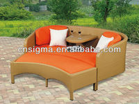 2014 Newest Design Outdoor Furniture Beach Lounge Bed Linen
