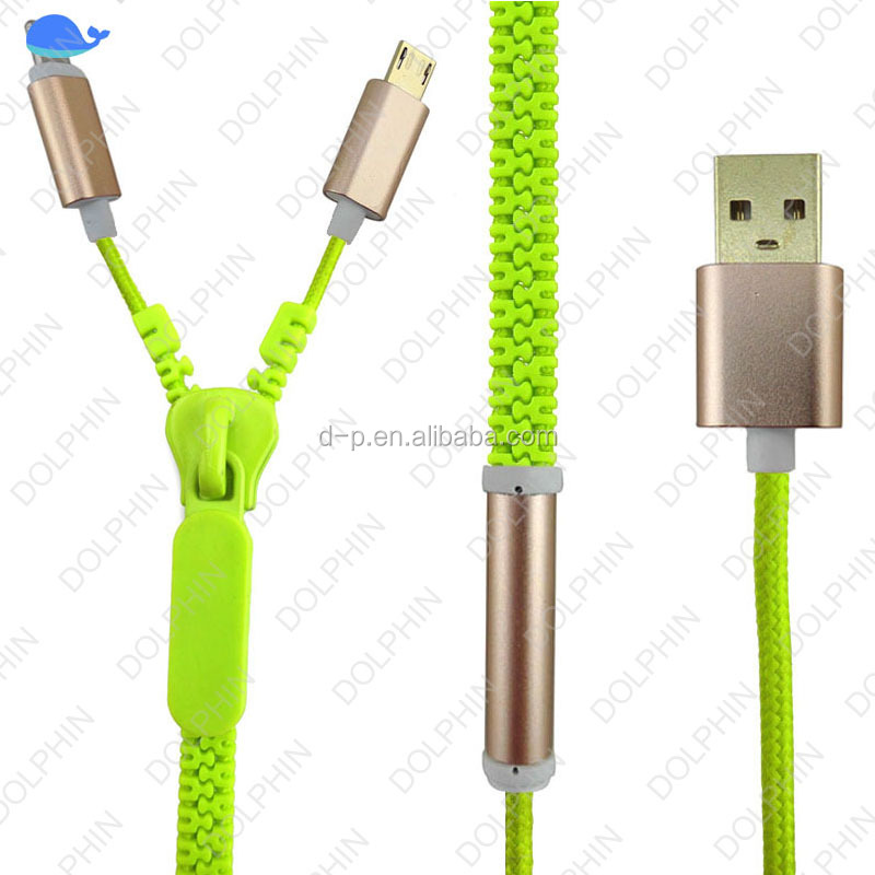 Best product usb 2.0 type c 2 in 1 usb cable usb data cable zipper earphone