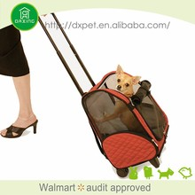 DXPB007 Expandable carry on travel sling fashion large dog carrier with wheels