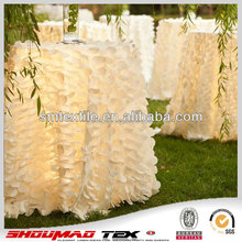 Wholesale wedding ivory tablecloth,banquet party petal tablecloth