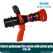 America type select flow fire hose nozzle with Pistol Grip