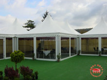 5x 5m glass wall pagoda