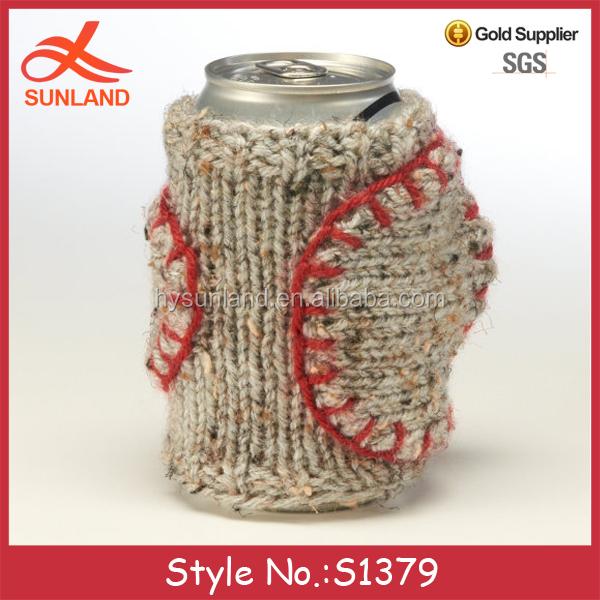 S1379 New Design Knitting Pattern Cup Coffee Hand Holder Crochet Mug Beer Mit...
