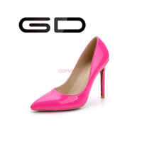 Fashion high heels sexy design color dress shoes for women