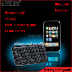 Rechargeable Li-ion battery mini bluetooth keyboard for smartphone