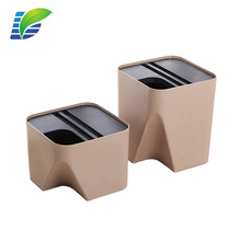 Creative home Candy color PP plastic small Classified stackable rubbish bin / trash can for Recycling