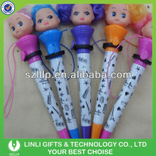 Plastic Doll Pen With Lanyard For Kids