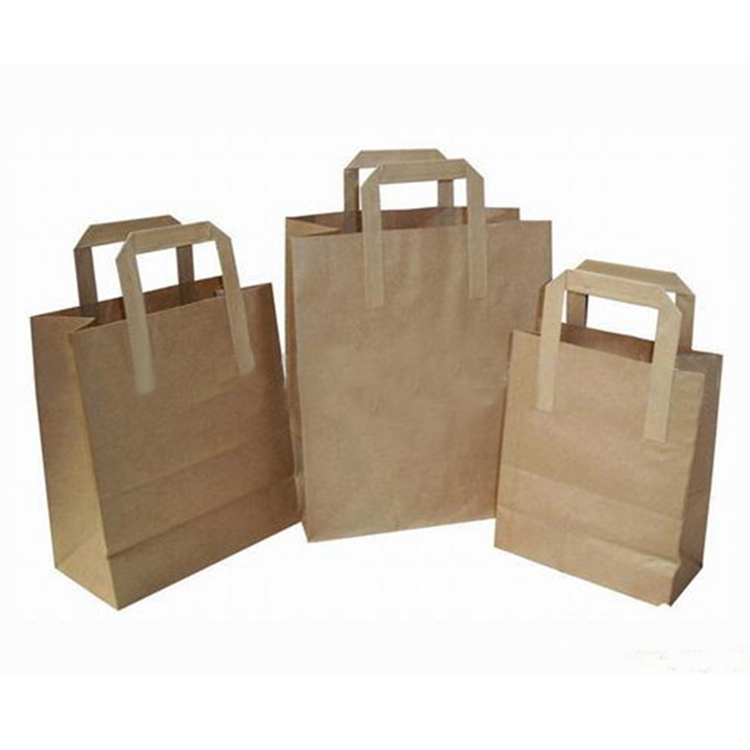 Cheap big size brown kraft paper vegetable bag