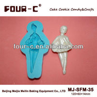 Sugarcraft mould and fondant maker,silicone soap mould, 3D dance girl silicone mould for cupcake decoration