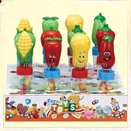 Lovely plastic vegetable sweet candy toys