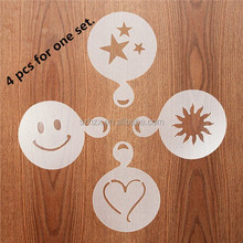 Reusable Plastic Cappuccino Coffee Stencils, Cappuccino Decorating Stencil Template