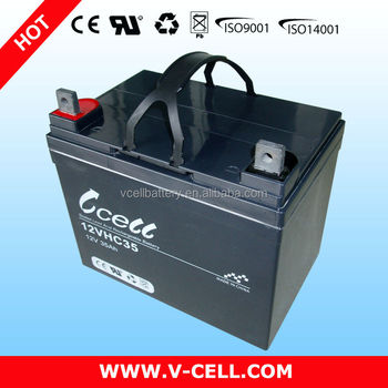 12VHC35 VCELL Deep cycle SLA rechargeable solar battery for scooter&e-bike