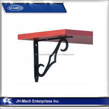 Black wood shelf bracket