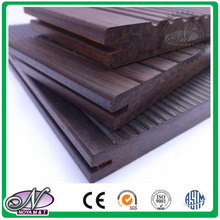 Outdoor carbonized solid strand woven bamboo floor
