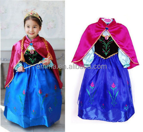 Beautiful frozen elsa dress fairy princess kids dress wholesale BC17050